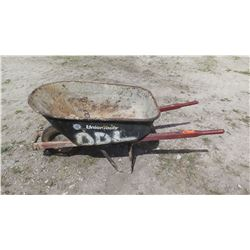 UnionTools Wheelbarrow w/Red Handles