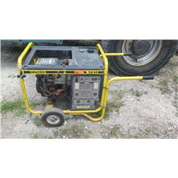 Wacker GS 8.5 Generator - Runs, No Battery. Was jump started (see video)