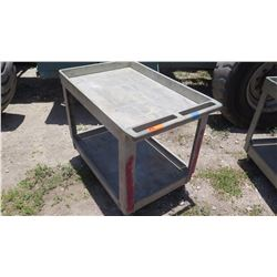 Gray 2-Tier Platform Cart