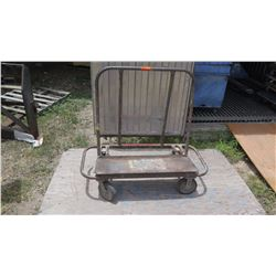 Marble Slat Platform Cart w/ Wall