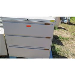3-Drawer Metal Lateral File Cabinet (Lt. Gray)