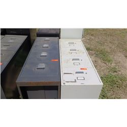 Qty 2 Vertical File Cabinets (Blk and Lt Gray