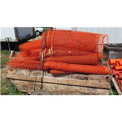 Huge Lot Orange Barrier Netting