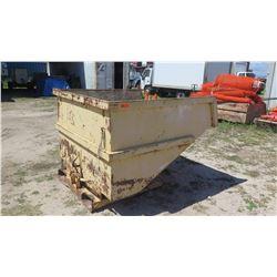 Forkliftable Industrial Metal Trash Bin (Forklift Tipping Bin)