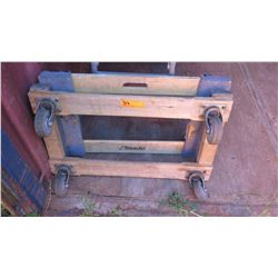 Qty 2 Platform Carts w/Wheels