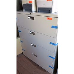 4-Drawer Lateral File Cabinet (Cream Color)