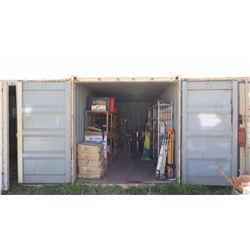 20-Foot Shipping / Storage Container (Contents Not Included, Except Attached Shelving)