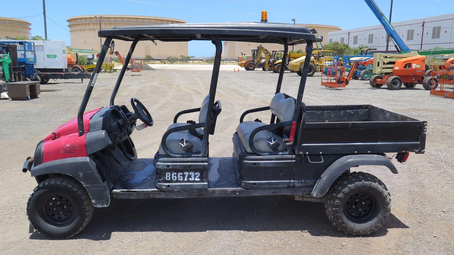 2011 CLUBCAR XRT1550SE 4 SEAT UTV - KUBOTA DIESEL -RUNS