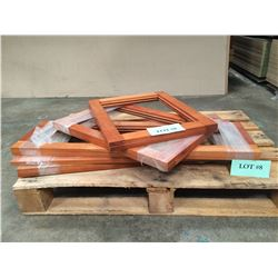 Qty 8 Grooved Solid Cherry Cabinet Door Frames