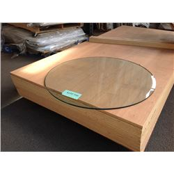 "Qty 2 Round Glass Table Tops - 36"" Dia and 47.5"" Dia"