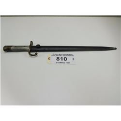 GERMAN MADE ARGENTINIAN ISSUE BAYONET AND SCABBARD