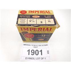 IMPERIAL 12 GA X 2 3/4, # 2 SIZE SHOT