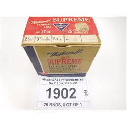 MASTERCRAFT SUPREME 12 GA X 2 3/4, # 5 SHOT