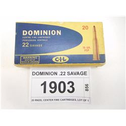 DOMINION .22 SAVAGE