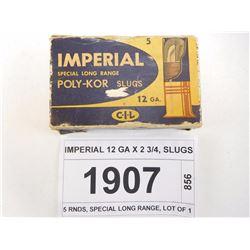 IMPERIAL 12 GA X 2 3/4, SLUGS