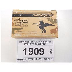WINCHESTER 12 GA X 2 3/4, 65 PELLETS, SHOT BBB