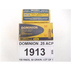 DOMINION .25 ACP