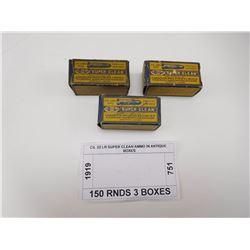 CIL 22 LR SUPER CLEAN AMMO IN ANTIQUE BOXES