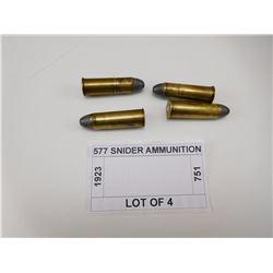 577 SNIDER AMMUNITION