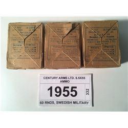CENTURY ARMS LTD. 6.5X55 AMMO