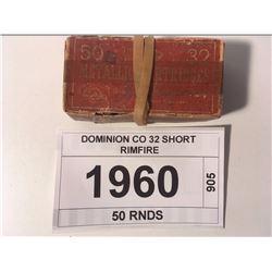 DOMINION CO 32 SHORT RIMFIRE