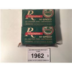 243 WINCHESTER 80GR SOFT POINT