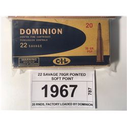 22 SAVAGE 70GR POINTED SOFT POINT