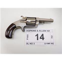 HOPKINS & ALLEN , MODEL: XL NO 3 , CALIBER: 32 RIM FIRE