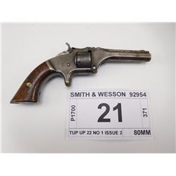 SMITH & WESSON , MODEL: TUP UP 22 NO 1 ISSUE 2 , CALIBER: 22 SHORT
