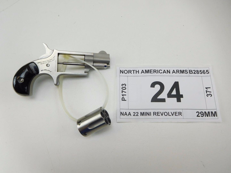 NORTH AMERICAN ARMS , MODEL: NAA 22 MINI REVOLVER , CALIBER: 22 LR