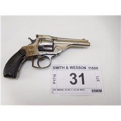SMITH & WESSON , MODEL: TOP BREAK 32 NO 1 1/2 DA MOD 2  , CALIBER: 32 S & W