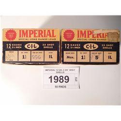 """IMPERIAL 12 GA, 2 3/4"""" SHOT SHELLS"""
