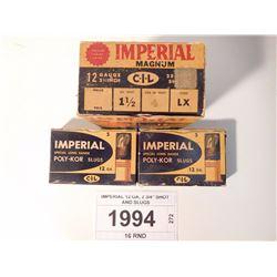 "IMPERIAL 12 GA, 2 3/4"" SHOT AND SLUGS"