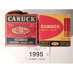 """CANUCK 12 GA, 2 3/4"""" SHOT SHELLS"""