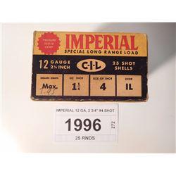 """IMPERIAL 12 GA, 2 3/4"""" #4 SHOT"""