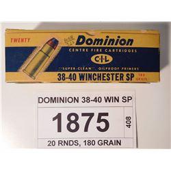 DOMINION 38-40 WIN SP