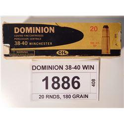 DOMINION 38-40 WIN