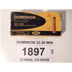 DOMINION 32-20 WIN