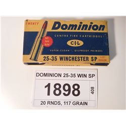 DOMINION 25-35 WIN SP