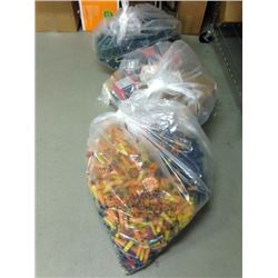 ASSORTED 3 BAGS FULL OF EMPTY HULLS AND BOXES