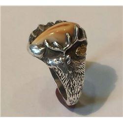 Men's Elk Ivory Ring