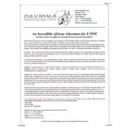 Photo Safari with Zulu Nyala in South Africa