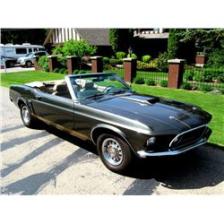 1969 FORD MUSTANG GT CONVERTIBLE 4 SPEED