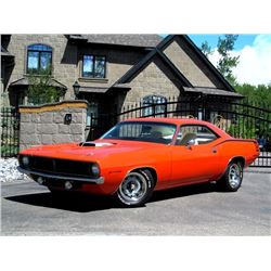 4:00 PM SATURDAY FEATURE! 1970 PLYMOUTH CUDA 340 6 PACK SHAKER ROTISSERIE RESTORATION
