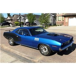 FEATURE! 1971 PLYMOUTH CUDA 440 6 PACK SHAKER 4 SPEED