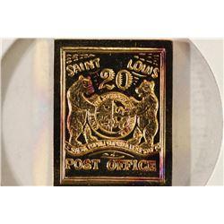 7.8 GRAM 24KT GOLD PLATED STERLING SILVER INGOT