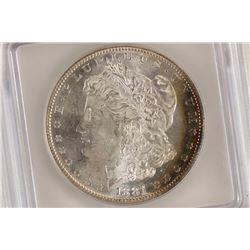 1881-S MORGAN SILVER DOLLAR ICG MS64 SOME TONING