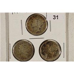 1943 P/D/S MERCURY DIMES