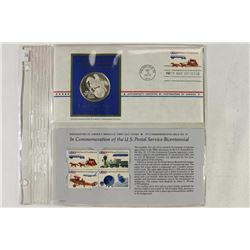 24 GRAM STERLING SILVER PROOF FDC WITH STAMPS