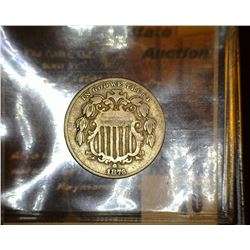 10. 1876 U.S. Shield Nickel, VG.